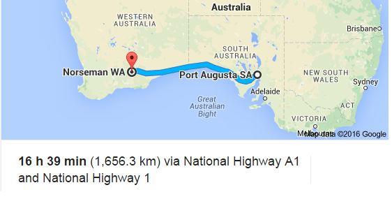 Nullarbor Road Map