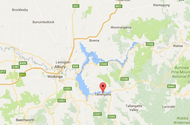 Lake Hume and Tallangatta Map