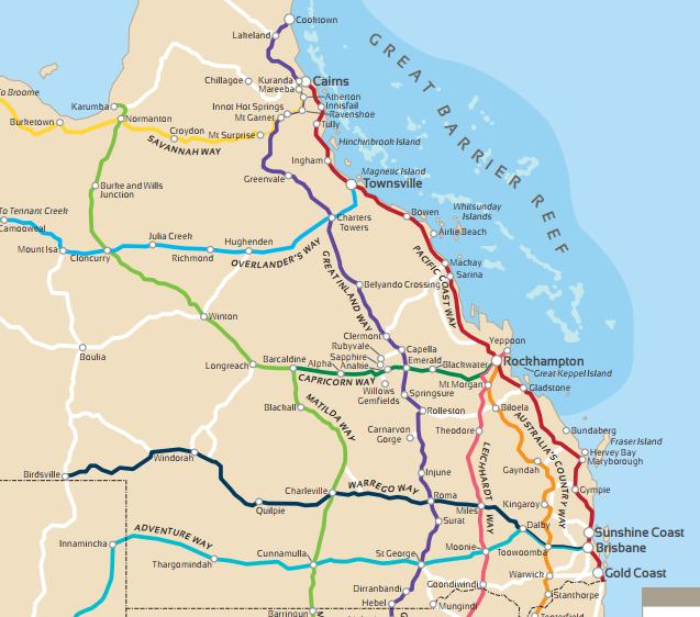 Western Qld Map
