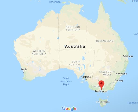 Melbourne map