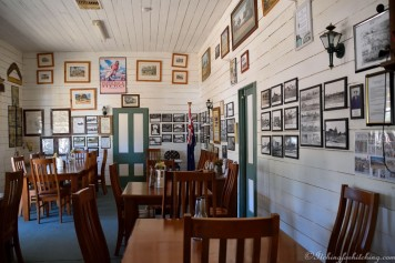 The classic dining room at the Nindigully Pub