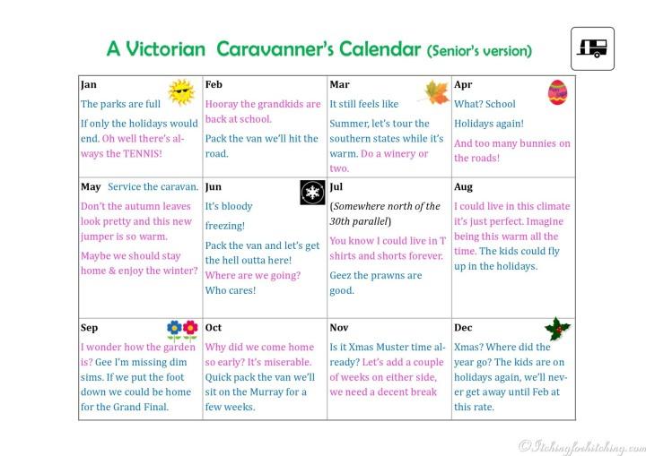 Caravanners calendar