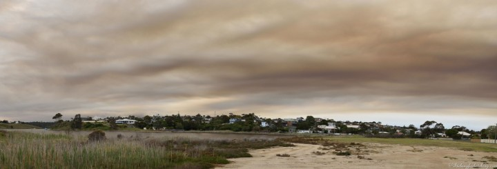 North Arm smoke filled sky pano